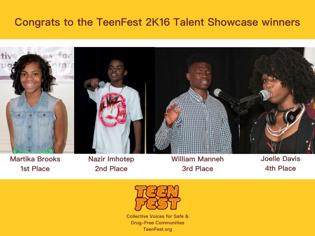 TeenFest 2K16 Winners yellow